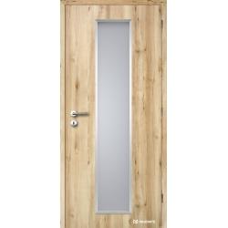 Jednokrídlové laminátové dvere ALU Linea - CPL Buk prírodný