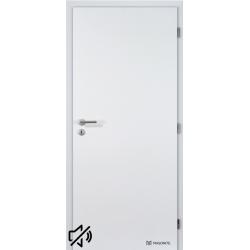Protihlukové laminátové dvere Masonite - Plné - CPL Biela hladká