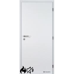 Jednokrídlové protipožiarné a protihlukové laminátové dvere Masonite - Plné - CPL Biela hladká