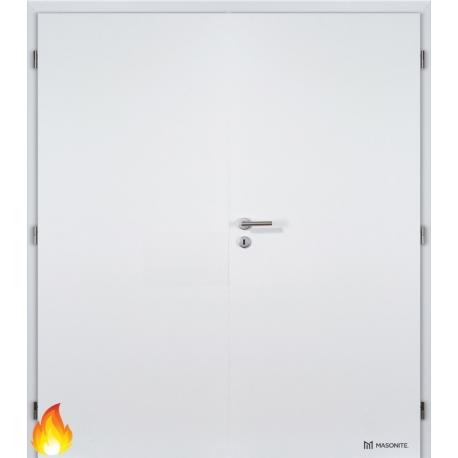 Dvojkrídlové protipožiarné biele dvere Masonite