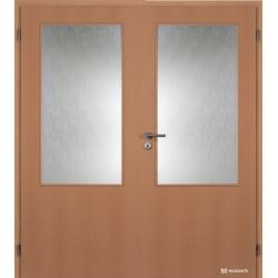 Dvojkrídlové fóliované dvere Masonite - Sklo 2/3 - Buk