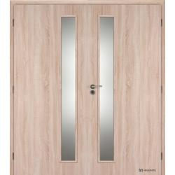 Dvojkrídlové fóliované dvere Masonite - Vertika - Dub sonoma