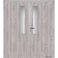 Dvojkrídlové fóliované dvere Masonite - Vertikus - Dub šedý