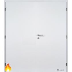 Dvojkrídlové protipožiarné laminátové dvere Masonite - Plné - CPL Biela hladká