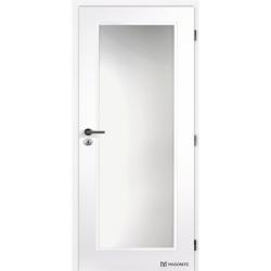 Jednokrídlové dvere Masonite - TAMPA Sklo - Biely rámček