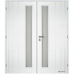 Dvojkrídlové dvere MASONITE - BORDEAUX VERTIKA - Biely rámček