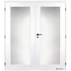 Dvojkrídlové dvere MASONITE - TAMPA Sklo - Biely rámček