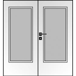 Dvojkrídlové laminátové dvere Masonite - Sklo 3/4