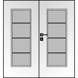 Dvojkrídlové laminátové dvere Masonite - Superior