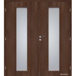 Dvojkrídlové fóliované dvere Masonite - Linea - Orech rustikálny