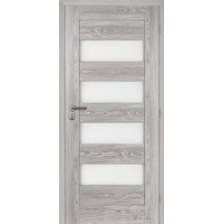 Jednokrídlové rámové dvere Masonite - Britannia sklo - Dub šedý