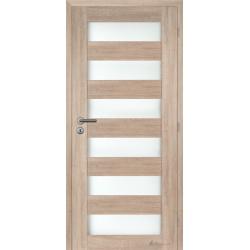 Jednokrídlové rámové dvere - Caledonia sklo - Dub sonoma