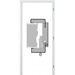 Jednokrídlová laminátová obložková zárubňa - CPL Biela hladká