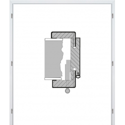 Dvojkrídlová laminátová obložková zárubňa - CPL Biela hladká