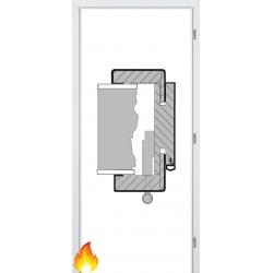 Jednokrídlová protipožiarná laminátová obložková zárubňa - CPL Biela hladká