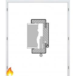 Dvojkrídlová protipožiarná laminátová obložková zárubňa - CPL Biela hladká