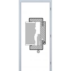 Jednokrídlová obložková zárubňa - 3D Polypropylén - Biela pór