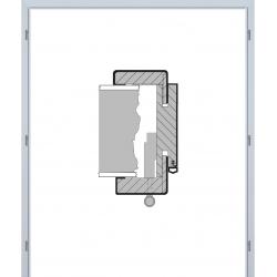 Dvojkrídlová obložková zárubňa - 3D Polypropylén - Biela pór