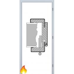 Jednokrídlová protipožiarná obložková zárubňa - 3D Polypropylén - Biela pór