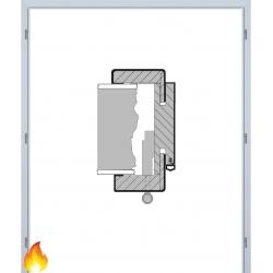 Dvojkrídlová protipožiarná obložková zárubňa - 3D Polypropylén - Biela pór