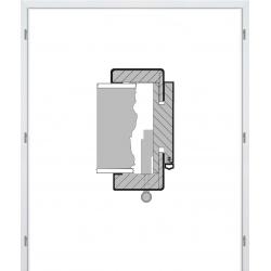 Dvojkrídlová fóliovaná obložková zárubňa - Biela