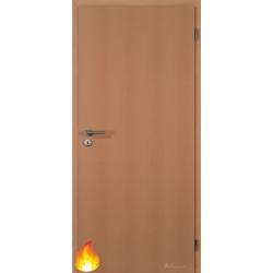 Jednokrídlové protipožiarné dvere Plné - Fólia Buk