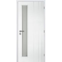 Jednokrídlové dvere Masonite - BORDEAUX VERTIKA - Biely rámček