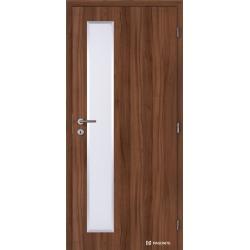 Jednokrídlové laminátové dvere Masonite - ALU Vertika - CPL Orech