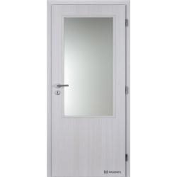 Jednokrídlové polypropylénové dvere Masonite - Sklo 2/3 - Jasan