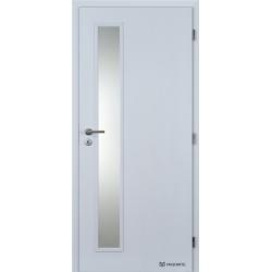 Jednokrídlové polypropylénové dvere Masonite - Vertika sklo - Biela pór