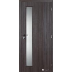 Jednokrídlové polypropylénové dvere Masonite - Vertika sklo - Malaga