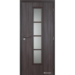 Jednokrídlové polypropylénové dvere Masonite - Axis sklo - Malaga