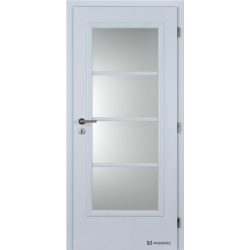 Jednokrídlové polypropylénové dvere Masonite - Superior - Biela pór