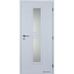 Jednokrídlové polypropylénové dvere Masonite - Stripe sklo - Biela pór