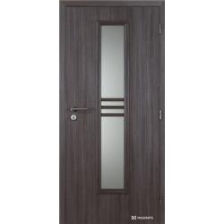 Jednokrídlové polypropylénové dvere Masonite - Stripe sklo - Malaga