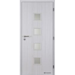 Jednokrídlové polypropylénové dvere Masonite - Quadra sklo - Jasan
