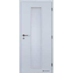 Jednokrídlové polypropylénové dvere Masonite - Linea - Biela pór