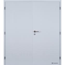 Dvojkrídlové polypropylénové dvere Masonite - Plné - Biela pór