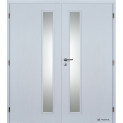 Dvojkrídlové polypropylénové dvere Masonite - Vertika - Biela pór
