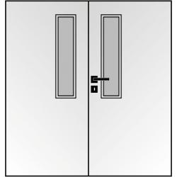 Dvojkrídlové polypropylénové dvere Masonite - Vertikus