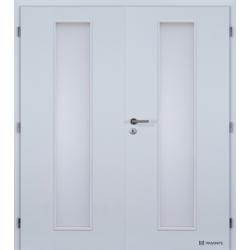 Dvojkrídlové polypropylénové dvere Masonite - Linea - Biela pór