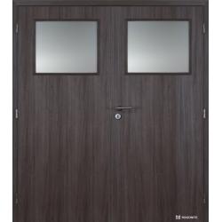 Dvojkrídlové polypropylénové dvere Masonite - Sklo 1/3 - Malaga