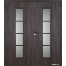 Dvojkrídlové polypropylénové dvere Masonite - Axis sklo - Malaga