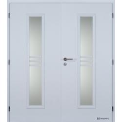 Dvojkrídlové polypropylénové dvere Masonite - Stripe sklo - Biela pór