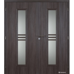 Dvojkrídlové polypropylénové dvere Masonite - Stripe sklo - Malaga