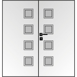 Dvojkrídlové polypropylénové dvere Masonite - Giga