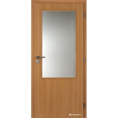 Jednokrídlové laminátové dvere Masonite - Sklo 2/3 - CPL Dub