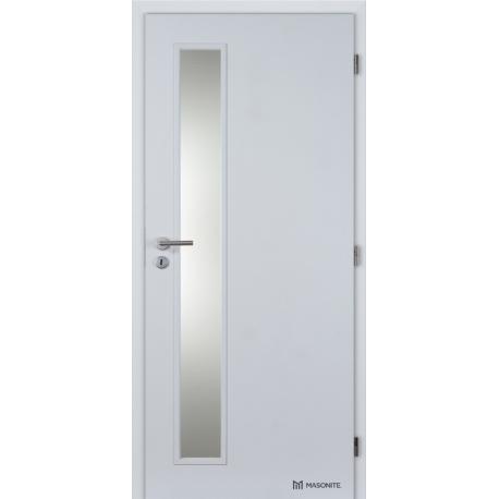 Jednokrídlové laminátové dvere Masonite - Vertika sklo - CPL Biela hladká
