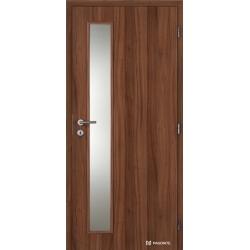 Jednokrídlové laminátové dvere Masonite - Vertika sklo - CPL Orech