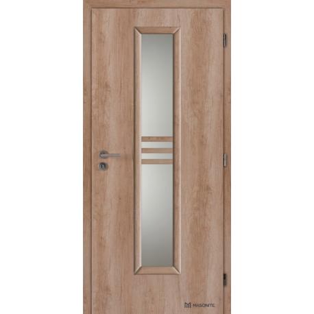 Jednokrídlové laminátové dvere Masonite - Stripe sklo - CPL Natural